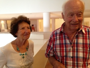 Colette and Joël Vigot talk about their experience living in Normandy at the time of the war.  © 2014 Sharon Kessler