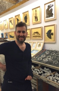 Sébastien Di Natale, Niçois artist, poses with his version of Matisse's